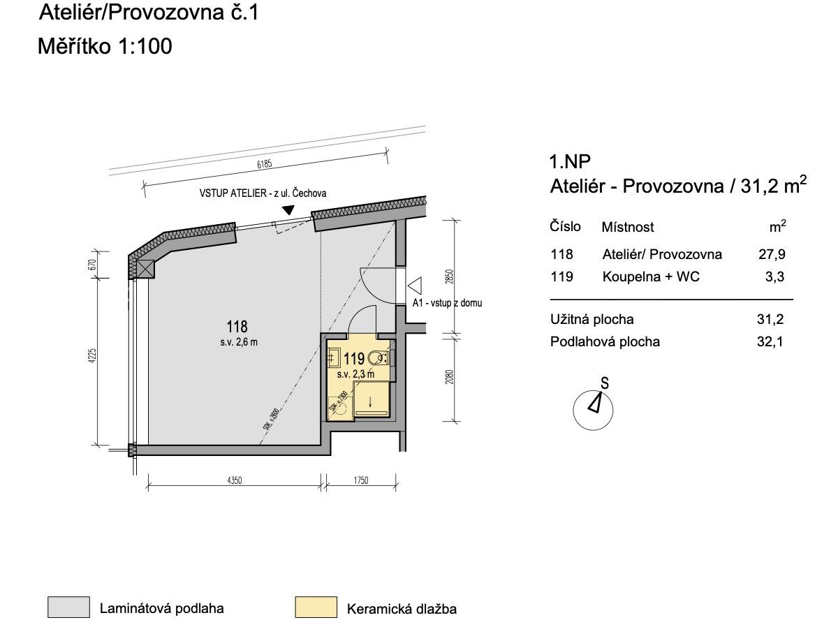 Bytový dům Zlatý potok Šlapanice Brno A1 1