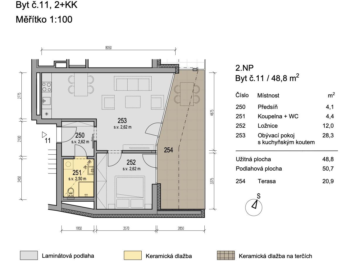 Bytový dům Zlatý potok Šlapanice Brno B11 1