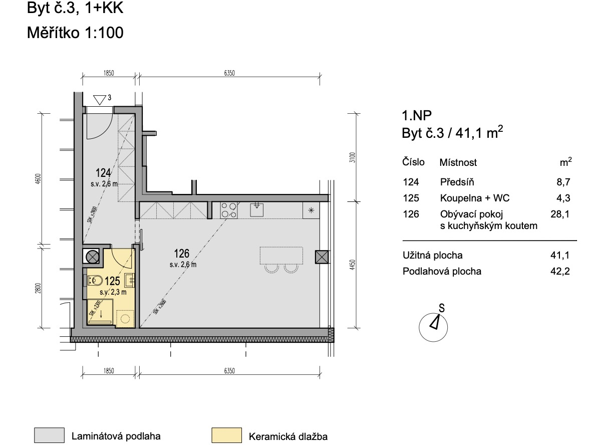 Bytový dům Zlatý potok Šlapanice Brno B3 1