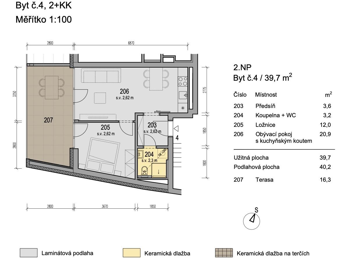 Bytový dům Zlatý potok Šlapanice Brno B4 1