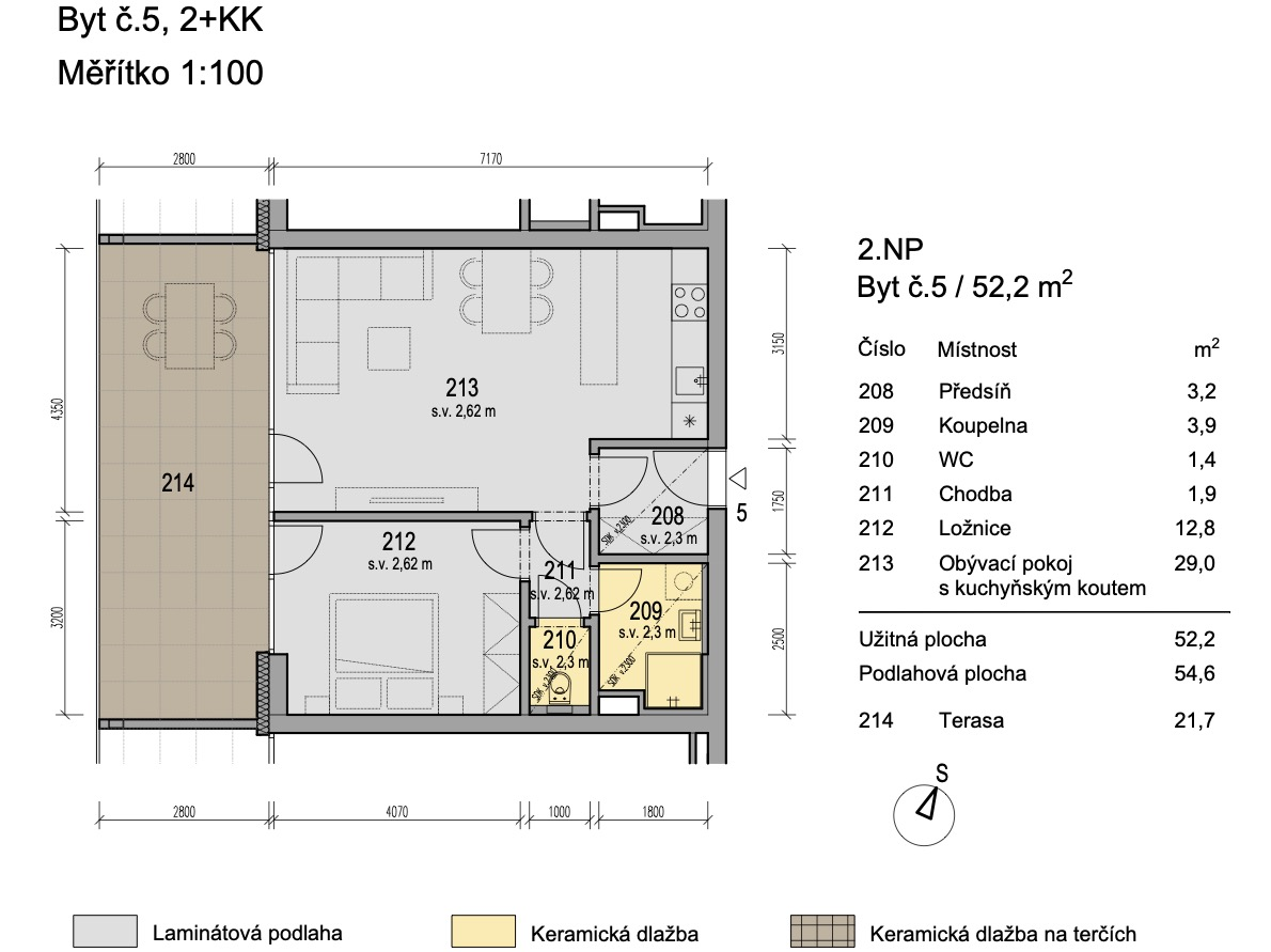 Bytový dům Zlatý potok Šlapanice Brno B5 1