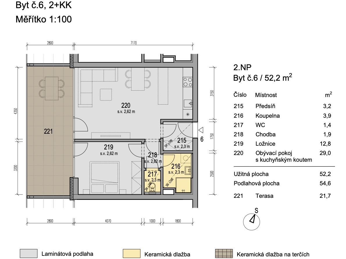 Bytový dům Zlatý potok Šlapanice Brno B6 1