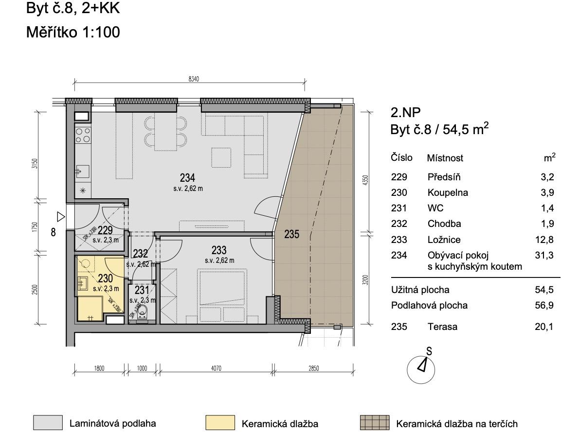 Bytový dům Zlatý potok Šlapanice Brno B8 1