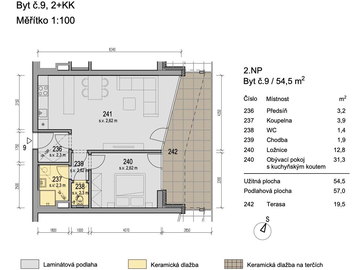 Bytový dům Zlatý potok Šlapanice Brno B9 1